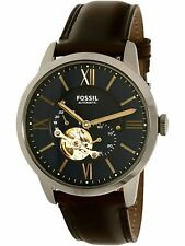 Fossil Men's Townsman ME3110 Blue Leather Japanese Automatic Dress Watch