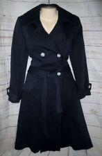 Helen Wang M Coat Pea Trench Fit Flare Tie Belt Knee Dress Rockabilly Steampunk