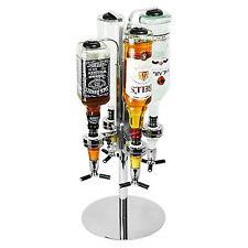 Durable Rotary 4 Bottle Stand Drinks Optics Dispenser in Spirits Wine Bar Butler