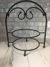 Southern Living at Home 2 Tier Plate Stand SLAH Wrought Iron