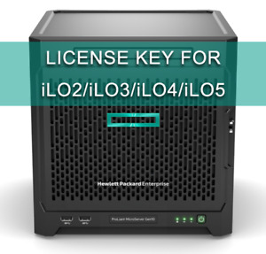 HP iLO Advanced License key (iLO 2 / iLO 3 / iLO 4 /  iLO 5)
