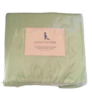 Pottery Barn Kids PBK Chamois Changing Pad Cover green sage celery Baby Nursery
