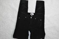 Paige Verdugo Ultra Skinny Pants Black Velvet Five Pocket Womens Size 23