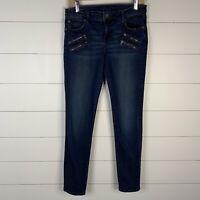 Kut From The Kloth Womens Blue Denim Size 6 Zipper Pockets Zip Fly Skinny Jeans