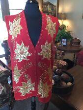 Belle Pointe beaded Christmas vest