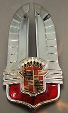 1941 Cadillac Hood & Trunk Emblem Original Pair - Restored - Show Quality! 2 pcs