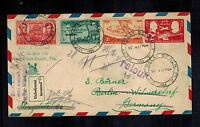 1954 West Palm Beach FL USA Registered Cover to Berlin Germany Returned to Send