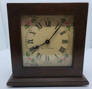 "Antique 1920's SETH THOMAS ""Alden"" Mahogany Cased Mechanical Wind-Up Alarm Clock"