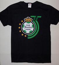 "CLUB SANTOS LAGUNA ""35 ANIVERSARIO"" MEN'S T-SHIRT SIZE XL   6 ESTRELLAS  (BLACK)"