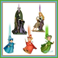 Disney Store Sleeping Beauty Limited Edition Ornament Set 5 Maleficent Aurora