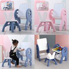 Kindersitzgruppe Kindertisch mit stühlen Set Kinder Kunst Staffelei Zeichenbrett