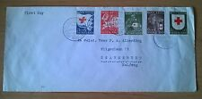 FDC E 14 (serie op gewone brief) Rode Kruis Zegels 1953