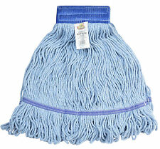 Wet Mop Head Cotton Loop Medium Blue Commercial Floor Cleaning Supplies