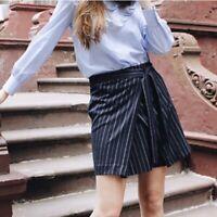 Banana Republic Navy Blue Striped Mini Skirt Career Women Size 2