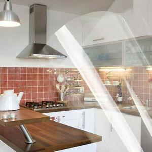 98inch Transparent Backsplash Sticker Oilproof Kitchen Cupboard Contact Paper
