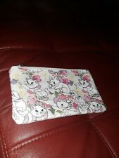 Disney white Marie aristocat small makeup case pouch Nwot.