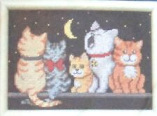 "1 Adorable ""Midnight Meow"" Home Decor Counted Cross Stitch Kit"