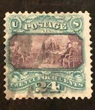 US Stamps 1869 National Bank Notes Scott #120 Green & Violet Used SCV - $600