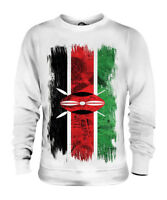 KENYA GRUNGE FLAG UNISEX SWEATER TOP KENYAN SHIRT FOOTBALL JERSEY GIFT