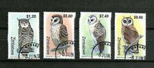 Zimbabwe - 1999 - Scott #820-823 - Used Complete Set - Owls