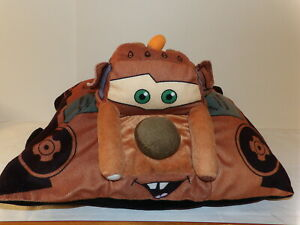 """Cute 12"""" by 16"""" Disney's Cars TOW MATER Plush Pillow Pets Travel Pillow (*79)"""