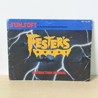 Fester's Quest NES Nintendo Original Instruction Booklet Manual