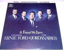 TENNESSEE ERNIE FORD & THE JORDANAIRES...A FRIEND WE HAVE Gospel Vinyl Lp 22F