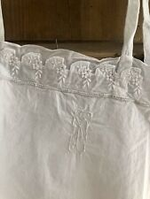 Antique French DELICATE UNDERWEAR NIGHTSHIRT metis NET LACE PCmono c1900