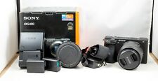Sony Alpha a6400 Mirrorless Digital Camera w/ 50mm 1.8 OSS, MC-11, & 3 Batteries