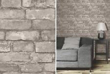 Grey Rustic Brick Effect Wallpaper Photographic Wall Feature Fine Decor