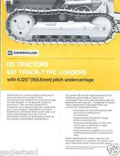Equipment Brochure - Caterpillar - D3 931 - Sealed Lubricated Track (E2732)