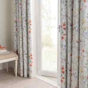 "Dorma Wildflower Blackout Pencil Pleat Curtains 66"" x 72"""
