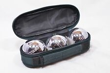 Steel Boules, Set of 3, with Accessories and Carry Case