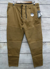 Modern Culture Mens Small Dark Chino Taper Fit Moto Stretch Jogger Pants New