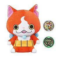 Yo-kai Watch Jibanyan Talking Singing Plush Toy + 2 Medals Bandai Yokai STD Ship