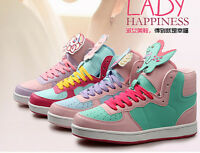 Womens Harajuku Sport Shoes Sweet Boots Kawaii Lolita Running Bears Sneakers
