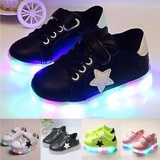Kinder Mädchen Jungen LED Leuchtende Schuhe Sneakers Blinkschuhe Sportschuhe LP