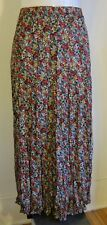 My Michelle pleated skirt size Small ankle length sheer poly multicolor floral
