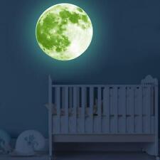 3D Mond Fluoreszierend Wandtattoo Nachtleuchtend Zimmer Wand Aufkleber Sticker