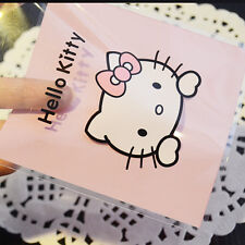 100pcs Pink Bow Hello Kitty Cookies Favor Gifts Self-Adhesive OPP Plastic Bags