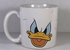 Donald Duck Coffee Mug White with Angry Face graphics Large 16oz  Disney Store