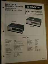 Sanyo Service Manual for a Model Vcr 4200 Color Video Cassette Recprder 8-81
