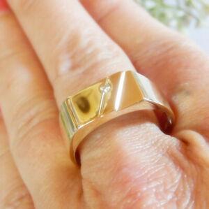 585er Gold Ring Brillant 5,81 Gramm Gr. 67 Herrenring