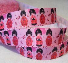 RUBAN GROS GRAIN ** 22 mm ** poupée Chinoise GEISHA Robe Kimono - vendu au mètre
