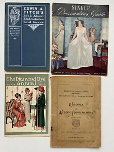 1894 1911 Vintage Early Catalog Fitch Sewing Dressmaking Singer Weddings Lace