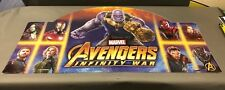 Marvel Avengers Infinity War 2-SIDED TOYS R US Sign Store Display rare 46X24