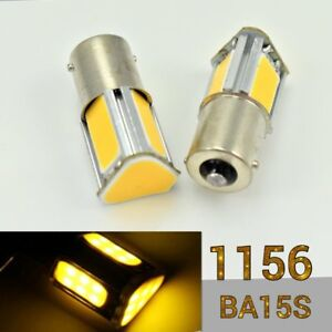 1156 180° BA15S P21W COB LED Amber Car Headlight Bulb Rear Signal B1 For Mini U