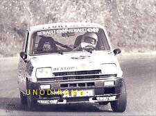 1977 CIRCUITO VALLELUNGA COPPA RENAULT R5 ALPINE GRANDE FOTO  AUTOGRAFATA 18x24
