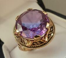rare bague ancienne Or 18 carats  grosse alexandrite ring in gold antique 8,12gr