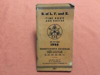 PRR - Brotherhood of Locomotive Fireman and Enginemen, Time Book & Roster 1955